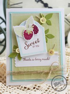 Dawn Woleslagle for Wplus9 featuring Fresh Picked stamps and dies, and Label Layers 5 die.