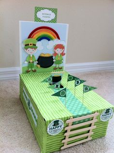 Leprechaun Trap that I made with my Kindergarten daughter for her school project!