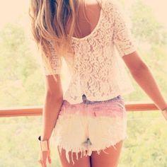 Ombre + lace.