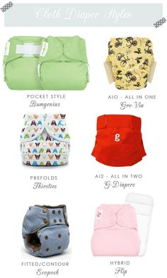Cloth diaper styles. We like prefolds in pockets!