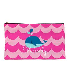 Look at this Pink Whale Personalized Pencil Bag on #zulily today!