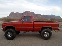 red 1984 chevy silverado