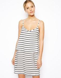 ASOS Double Layer Stripe Cami Dress