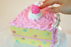 decorate your cake to look like a huge cake slice - tutorial