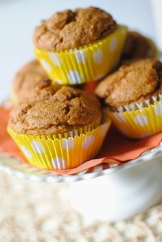 Healthy Pumpkin Muffins on Pinterest