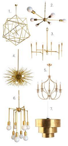 Brass Chandeliers