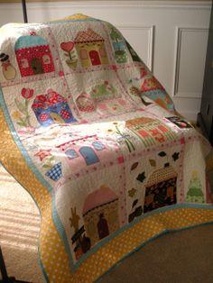 Cute house quilt