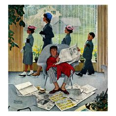 """Sunday Morning"", May 16,1959 Giclee Print by Norman Rockwell at Art.com"