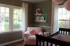 Gray walls, white trim