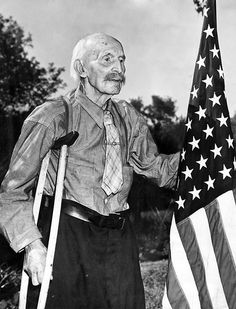 """In May 1945, Forest Lawn Cemetery canceled the Memorial Day parade because the uphill climb was too tough on the hearts of the World War I veterans. Erastus Harrison Page was Omaha's last Civil War veteran. According to The World-Herald, the 99-year-old Page said, """"Faint-hearted sissies, that's what they are!"""" THE WORLD-HERALD"""