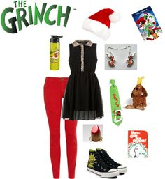"""""""the Grinch"""" by sourcheeks on Polyvore"""