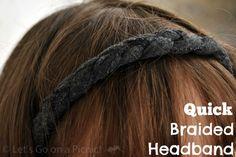 Braided Headband Tutorial #diy #sewing #crafts