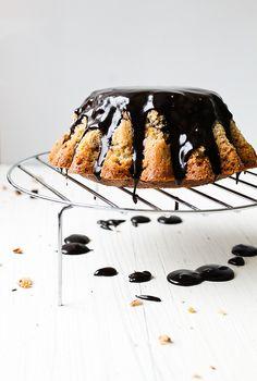 spiced orange cake with chocOlate glaze