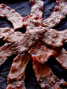 """Candied Bacon Gift Pack: """"I Like It Creamy"""" All Milk Chocolate Covered Bacon @Brad Beck"""
