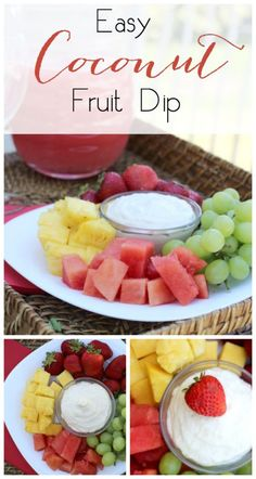 Easy Coconut Fruit D
