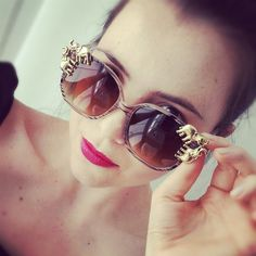 DIY: Gafas de sol adornadas /  Embellished Sunglasses