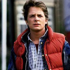 Micheal J. Fox (Marty McFly) @darlene Thornton....Beautiful...isnt he?! ;)
