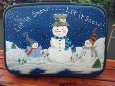 Suitcase Christmas storage solution…