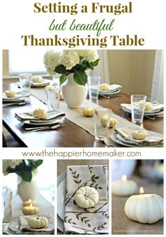 Setting a Frugal (but Beautiful) #Thanksgiving Tablescape | Renter Resources