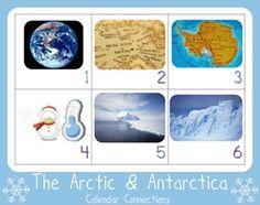Let's Explore The ARCTIC & ANTARCTICA...Free Calendar Connections Printables from www.1plus1plus1equals1.net