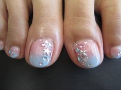 Pink & Blue Pedicure!  Come to Luxury Spa & Nails for all of your pampering needs! Call (803) 731-2122 or visit www.luxuryspaandnails.weebly.com for more information!