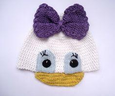 Daisy Duck Inspired Crochet Hat Pattern