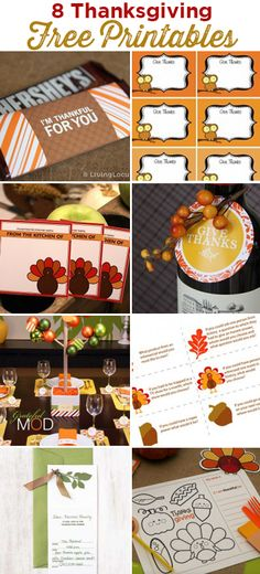 8 Adorable Thanksgiving Free Party Printables!