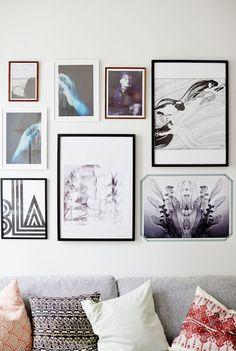Art-filled Swedish living room #home #homedecor #interiordesign