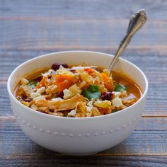 Crock Pot Buffalo Chicken Chili on http://ifoodreal.com/crock-pot-buffalo-chicken-chili/