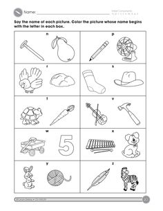 The Initial Consonants activity (part 3) helps students identify consonant sounds.