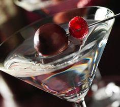 Lindtini Cocktail - *3 oz Raspberry Vodka* *2 oz White Creme de Cacao* *Lindor Raspberry or Extra Dark Truffles* *Fresh Raspberries*