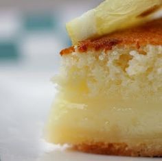 Lemon Cake-Pie - Is it a cake? Is it a pie? well... It's BOTH! This super-easy pie bakes into a light (almost angel-food-like) cake on top of a creamy custardy crust-full-of-yummy-ness!