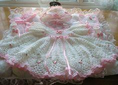 Ravelry: Crochet Dress Headband Shoes and Bib pattern by Carol Stephenson