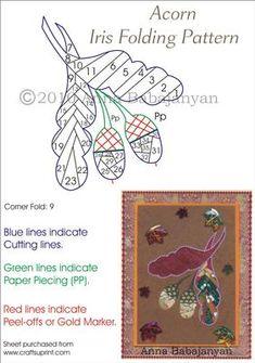 Acorn Iris Folding Pattern