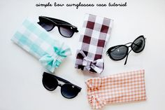 how to sew a sunglasses case