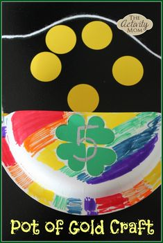 Pot of Gold Craft for #Children (pinned by Super Simple Songs) #educational #resources #StPatricksDay