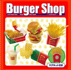Re-Ment Miniatures - Burger Shop Magnets