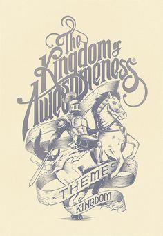 graphic design, poster design, kingdom, letter, inspir, awesom, typography, type, typographi