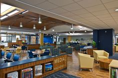 Different types of seating: Spartanburg (S.C.) High School Library