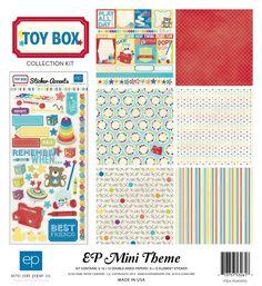 birthday parties, box collect, echo park, parks, toy boxes, 1st birthdays, vintage toys, mini, paper toys