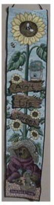 "Boyds Bears & Friends Tapestry  Sunflowers "" Ain't Life Sweet ""  41"" Long"