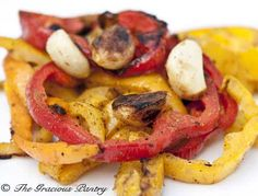 Clean Eating Tri-Color BBQ Bell Peppers
