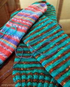 Knitting Socks with Afterthought Heels