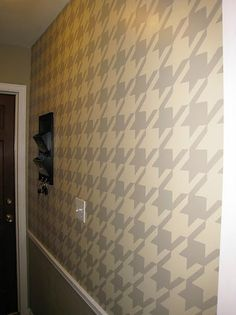 Paint a Houndstooth Wall