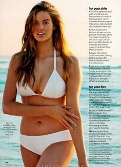 """Robyn Lawley - It's so sad that she's considered """"Plus Size"""" - She's beautiful! I would kill for that body! And the only thing plus about her is that she's way more attractive than some bony chick!"""