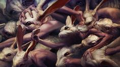 In Tokyo based Ryohei Hase's surrealistic, metaphoric a little too fantasy-oriented digital art    http://ryoheihase.com/top.html