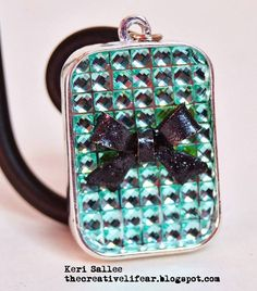 rhinestone necklace - Scrapbook.com - Use Buckle Boutique rhinestone sheets to make your own DIY jewelry.