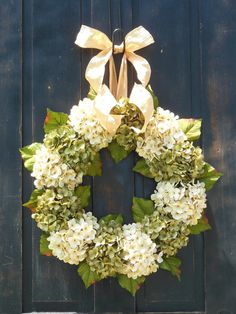 Spring Hydrangeas, Front Door Wreaths, Traditional Wreaths, Spring Wreaths, Peony Wreaths, wreaths, Door Wreaths, Brand New Day Designs on Etsy, $95.00