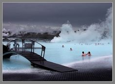 Iceland..blue lagoon...warm water is so nice.