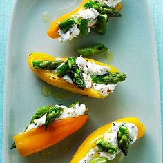 Mini Peppers Filled with Goat Cheese and Asparagus | MyRecipes.com